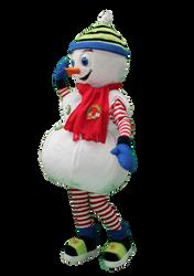Mascote Partyval Boneco de Neve Óbidos 2
