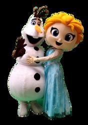 Mascote Partyval  Olaf e Elsa Frozen 3.p