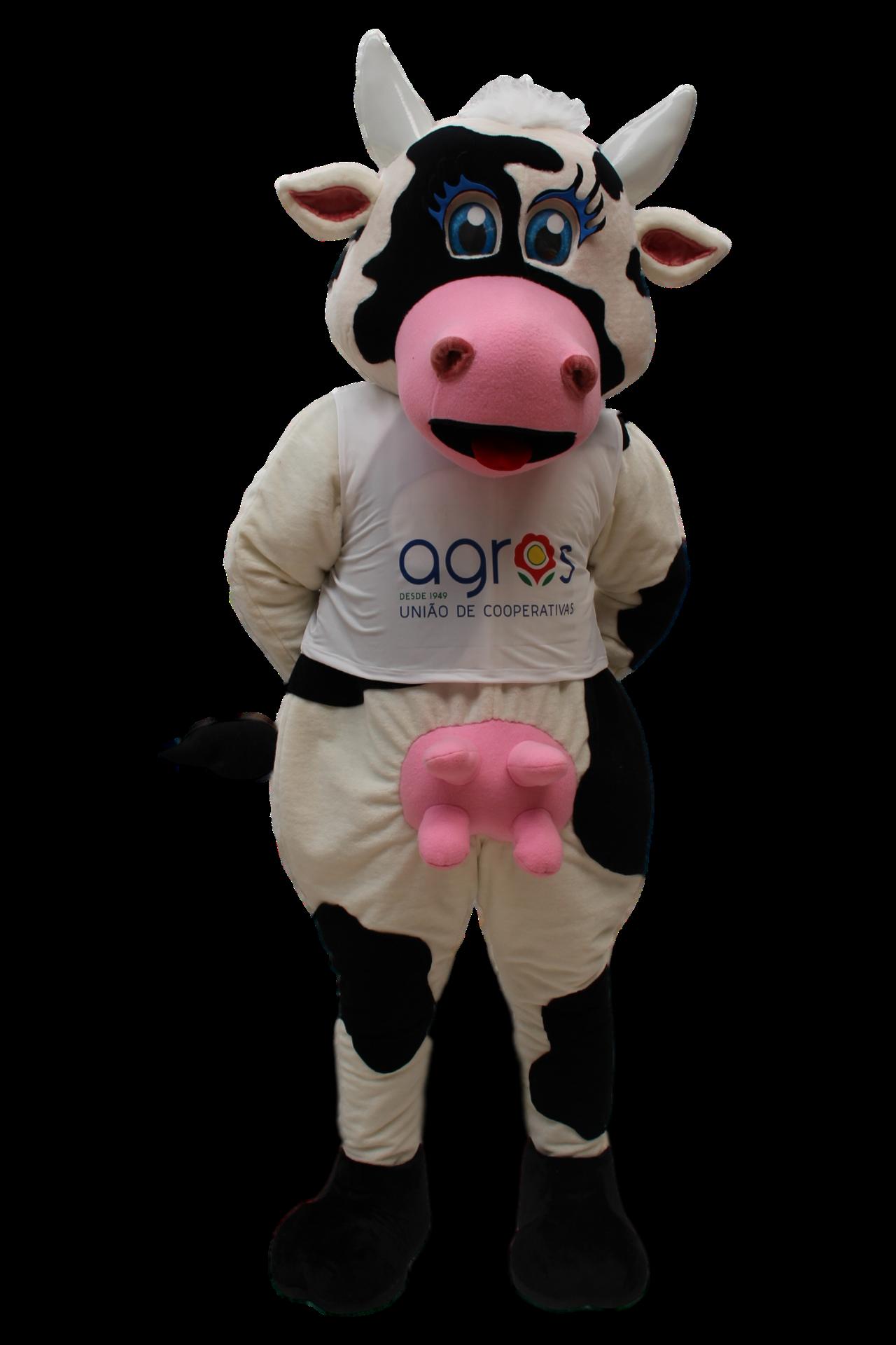 Mascote Partyval Vaca Agros
