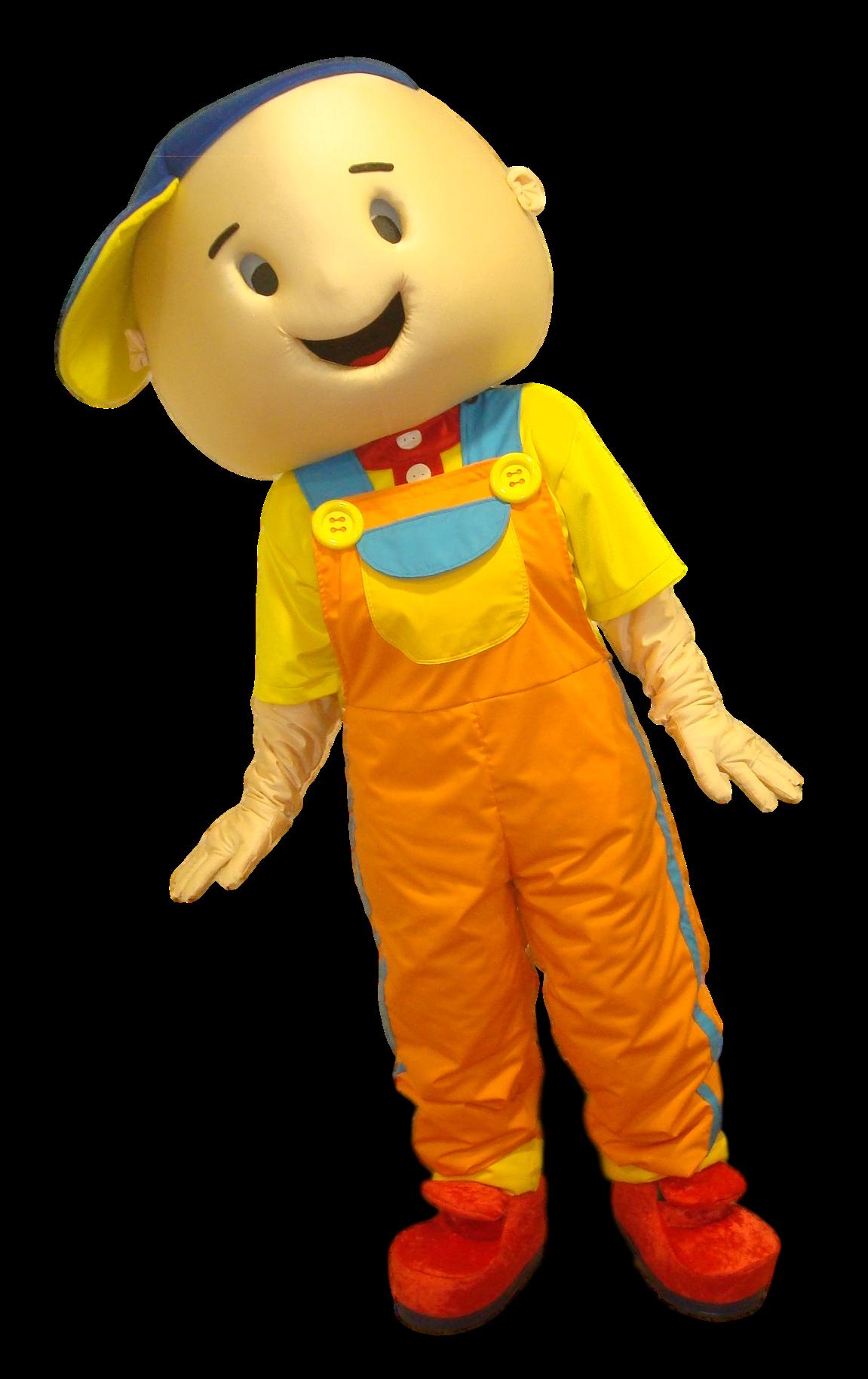 Mascote Menino Jardineira