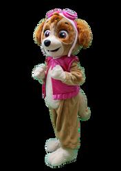 Mascote Partyval Patrulha Pata Skye 2.pn