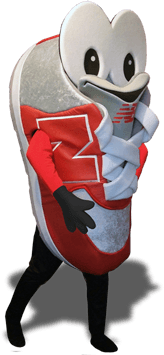 new balance training shoe mascot costume