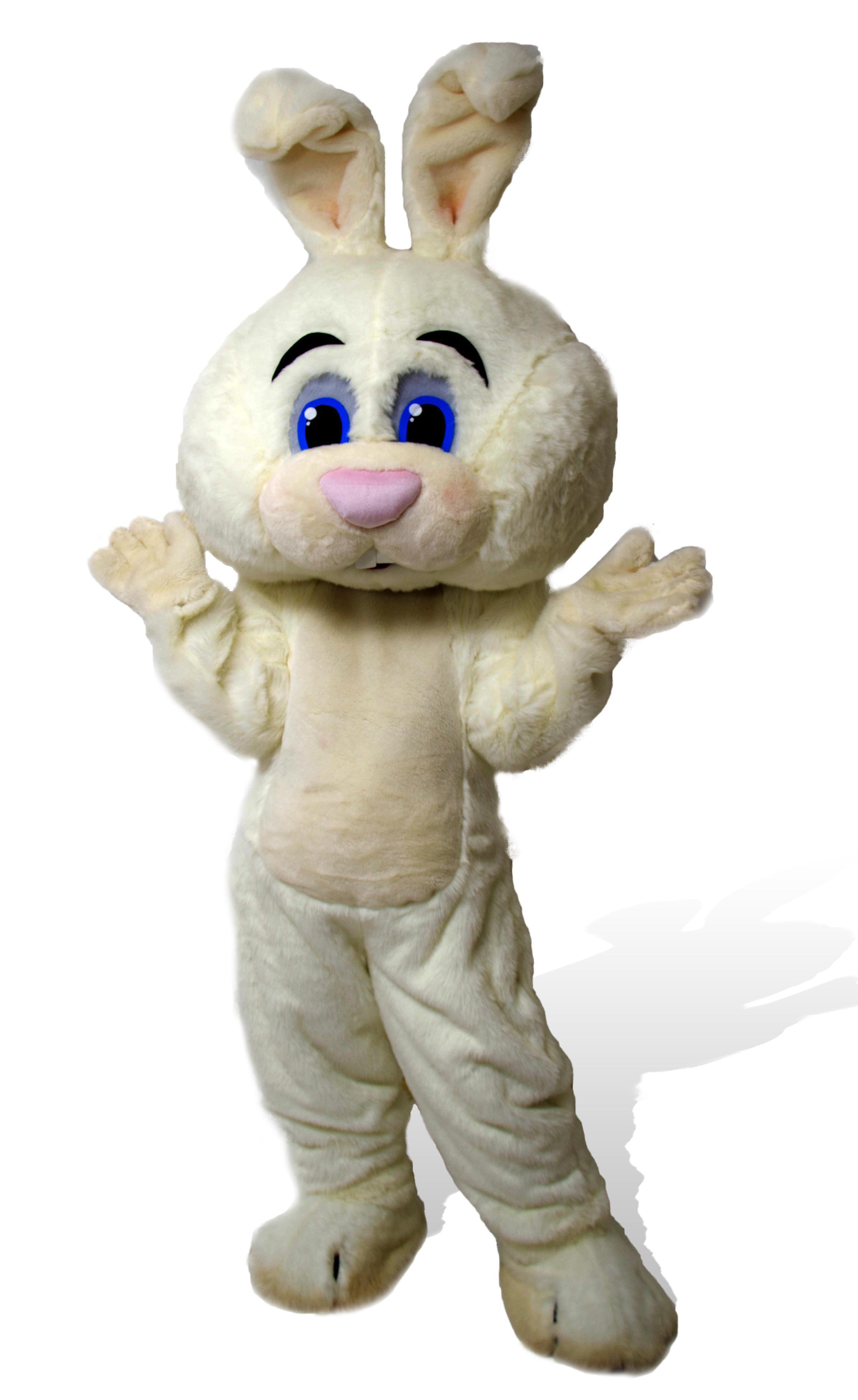 Mascote Partyval bunny branco 2