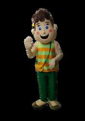 Mascote Partyval Clara Moedas