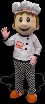 Mascote Partyval cozinheiro