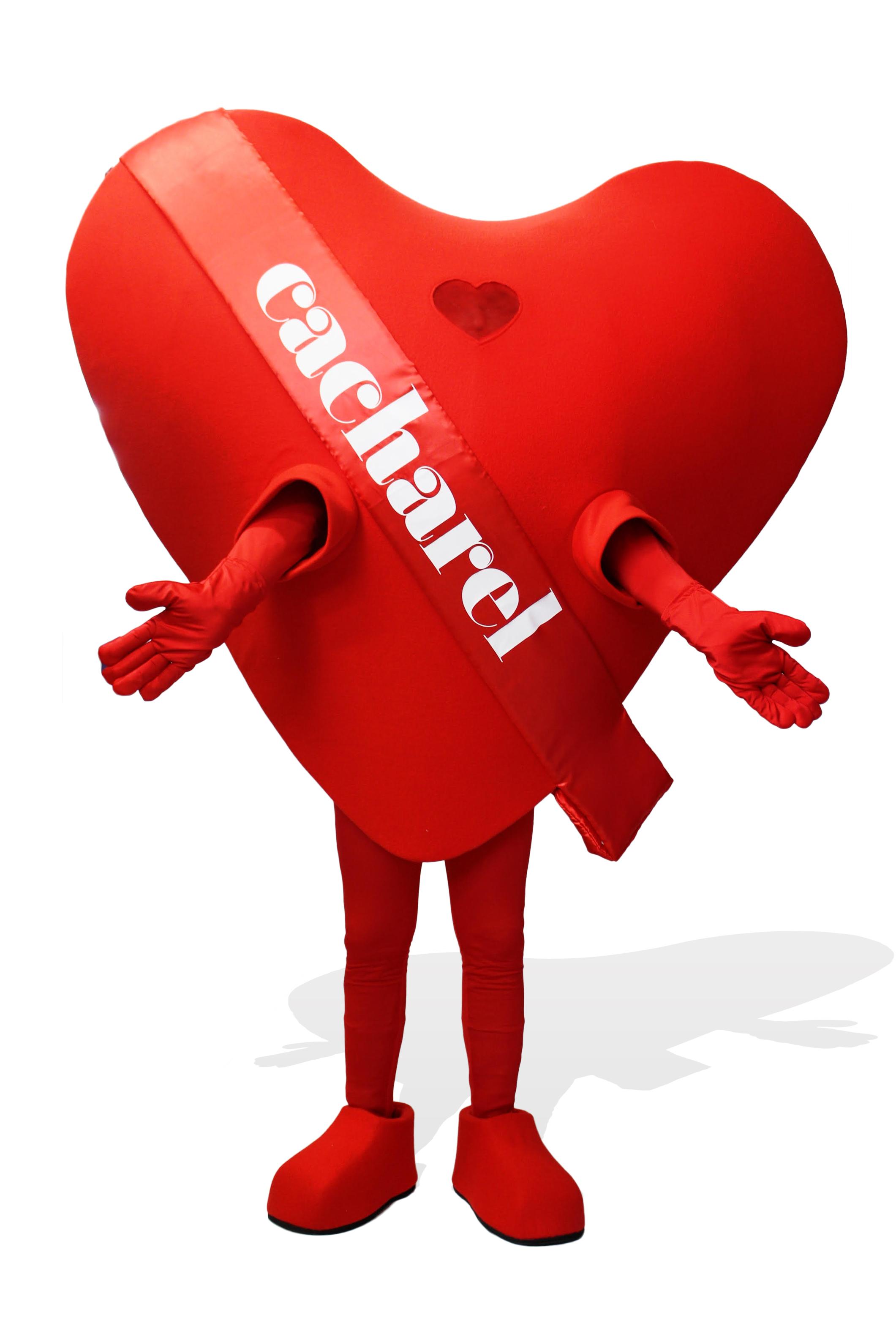 Mascote Partyval coração