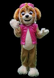 Mascote Partyval Patrulha Pata Skye 1.pn