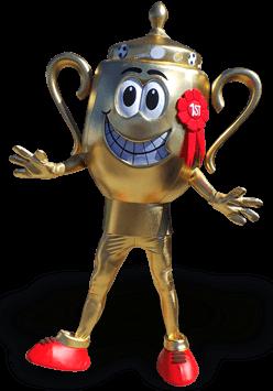 trophy mascot costume