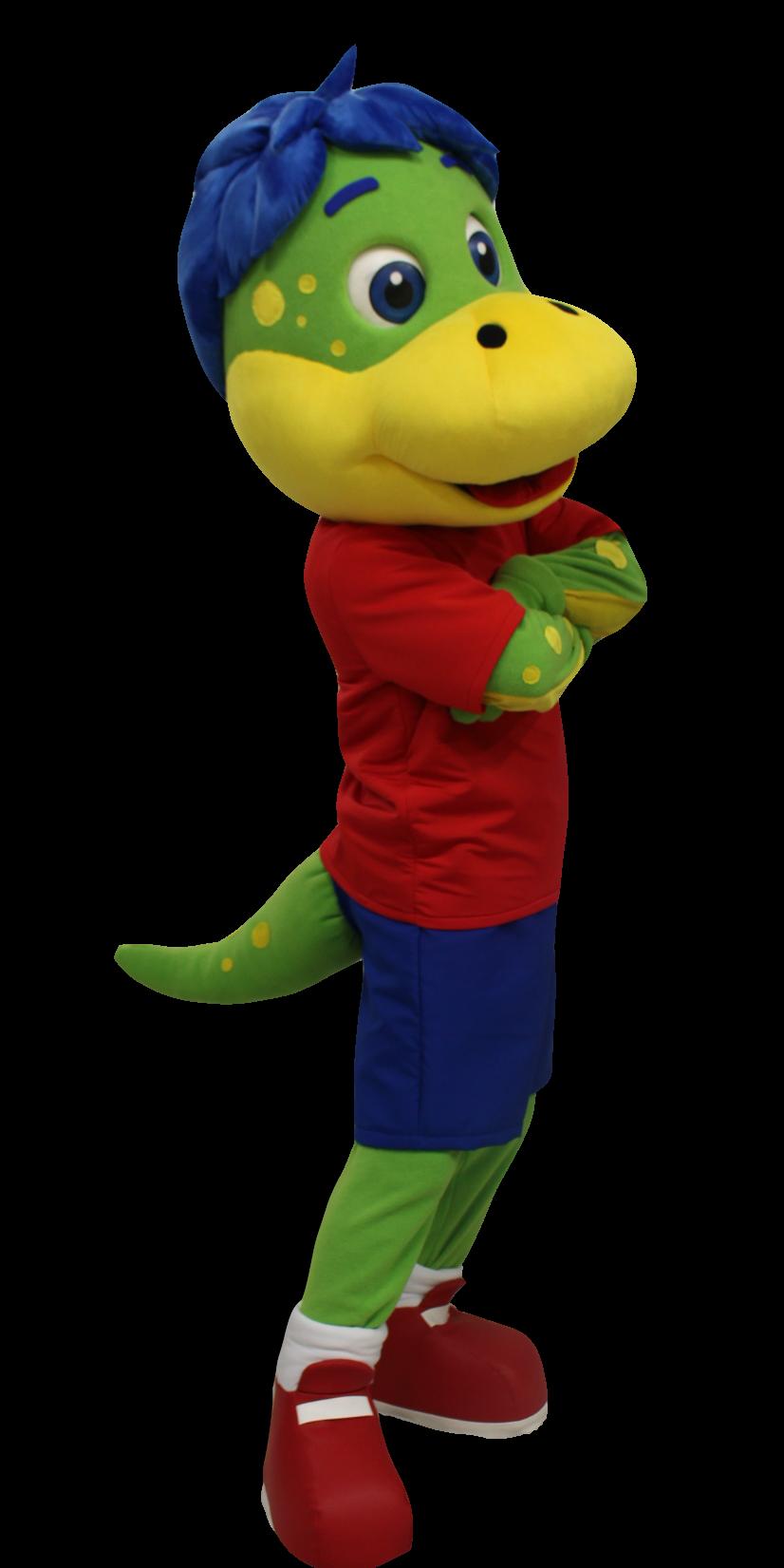 Mascote Partyval Dino
