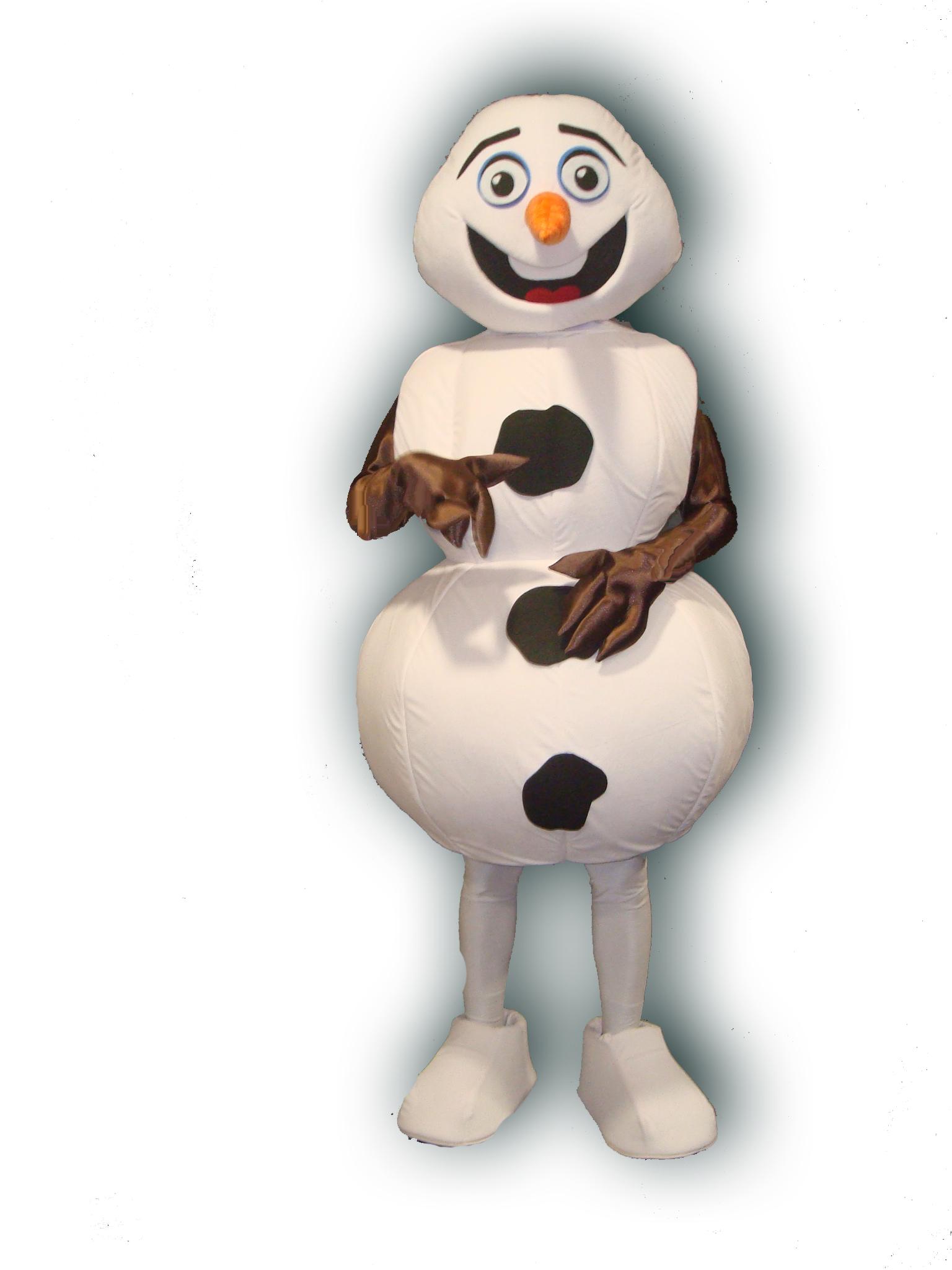 Mascote Partyval boneco de neve