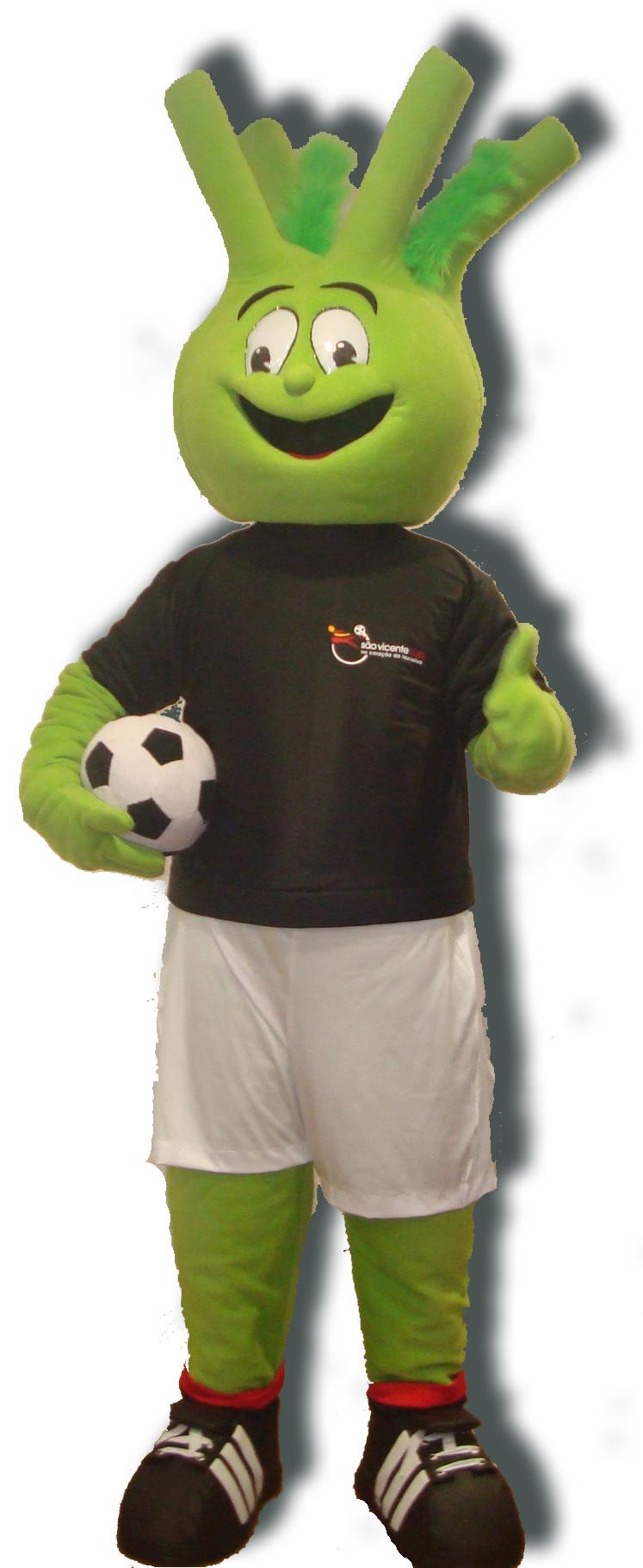 Mascote Partyval funcho futebol