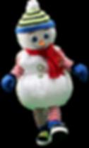mascote boneco de neve