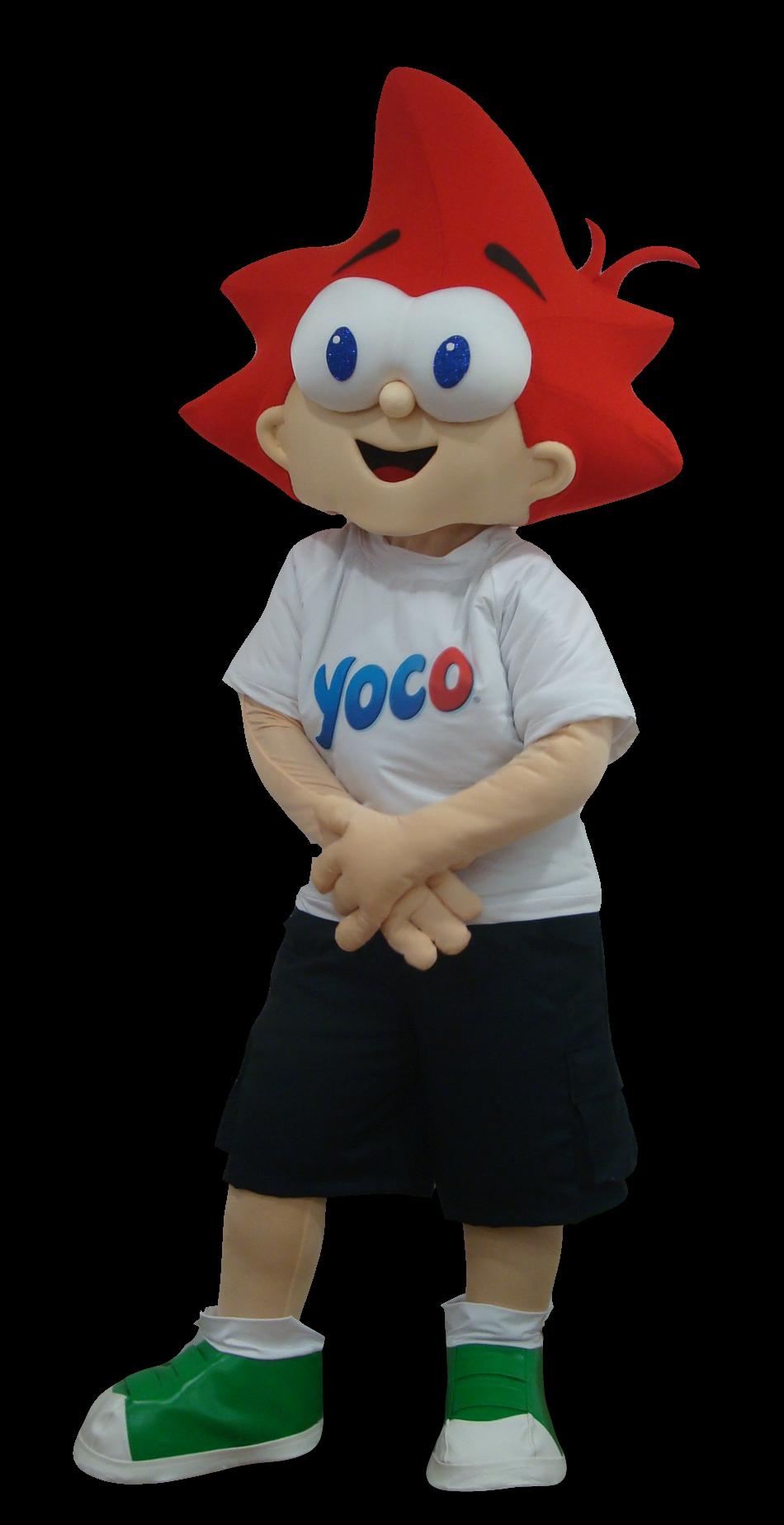 Mascote Partyval Menino Yoco