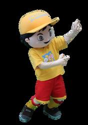 Mascote Partyval Menino Simão Mobilidade