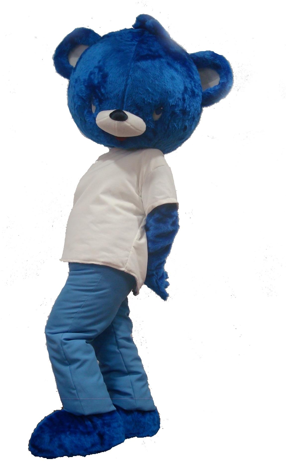 Mascote Partyval urso nestle
