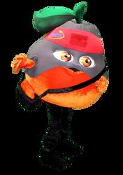 Mascote Partyval Tangerina Ninja Santal 2