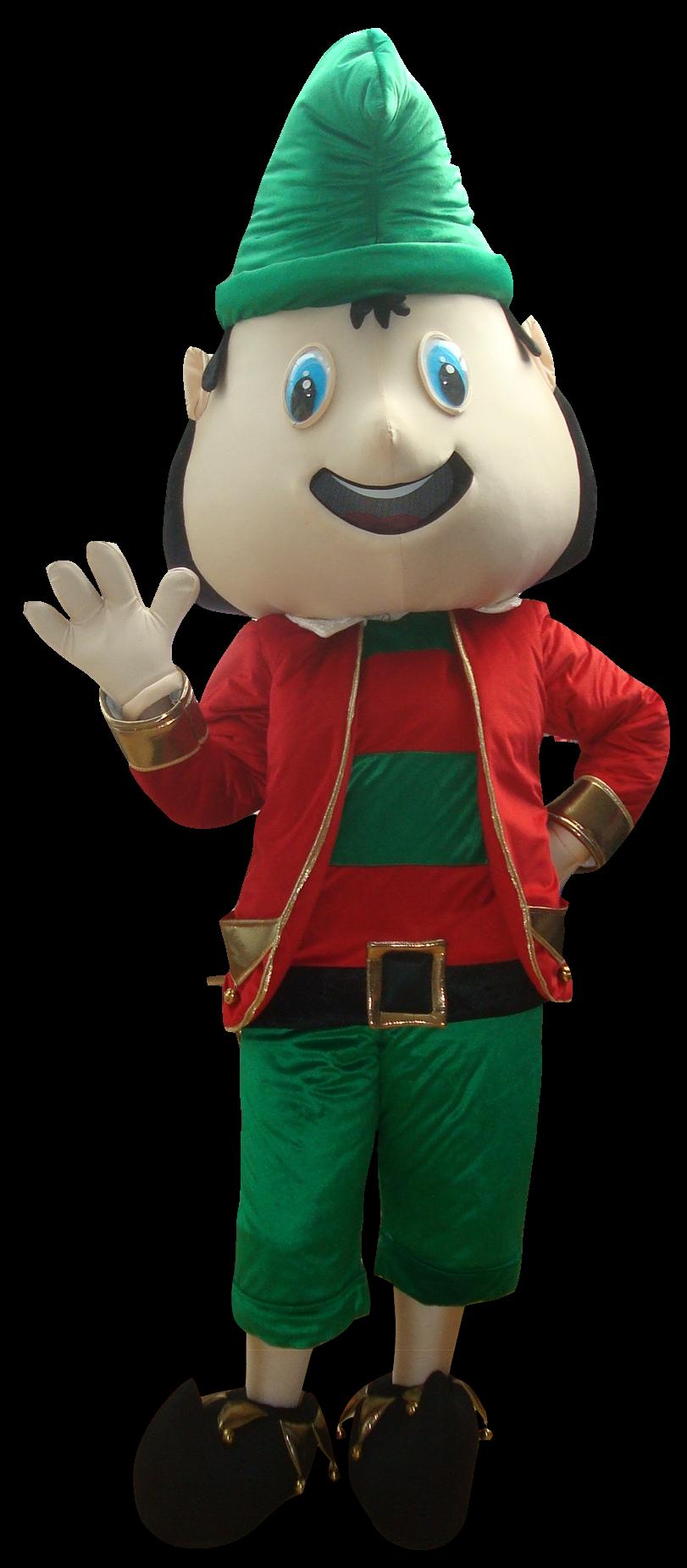 Mascote Partyval Natal Duende a