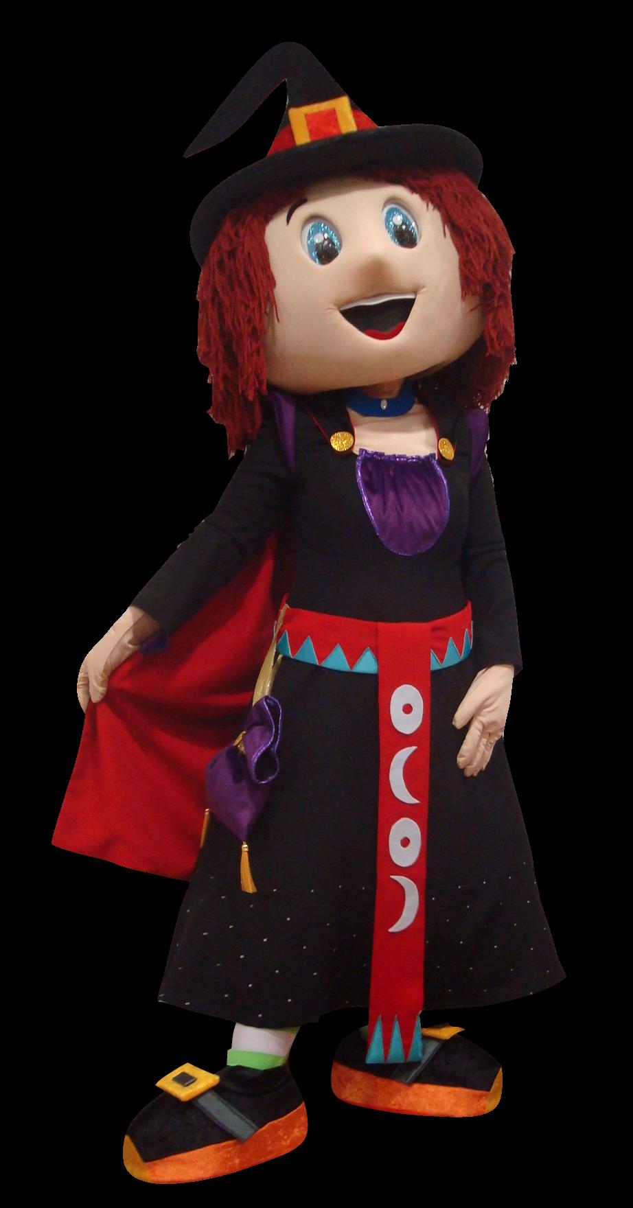 Mascote Partyval Bruxa cartucha