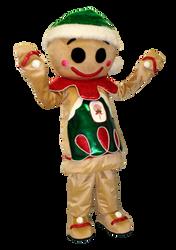 Mascote Partyval Bolacha Ginger Bread 1.