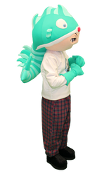 Mascote Partyval Menino Peixe Matosinhos
