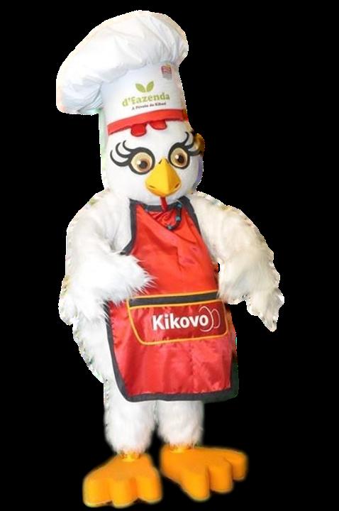 Mascote Partyval Galinha Kikovo