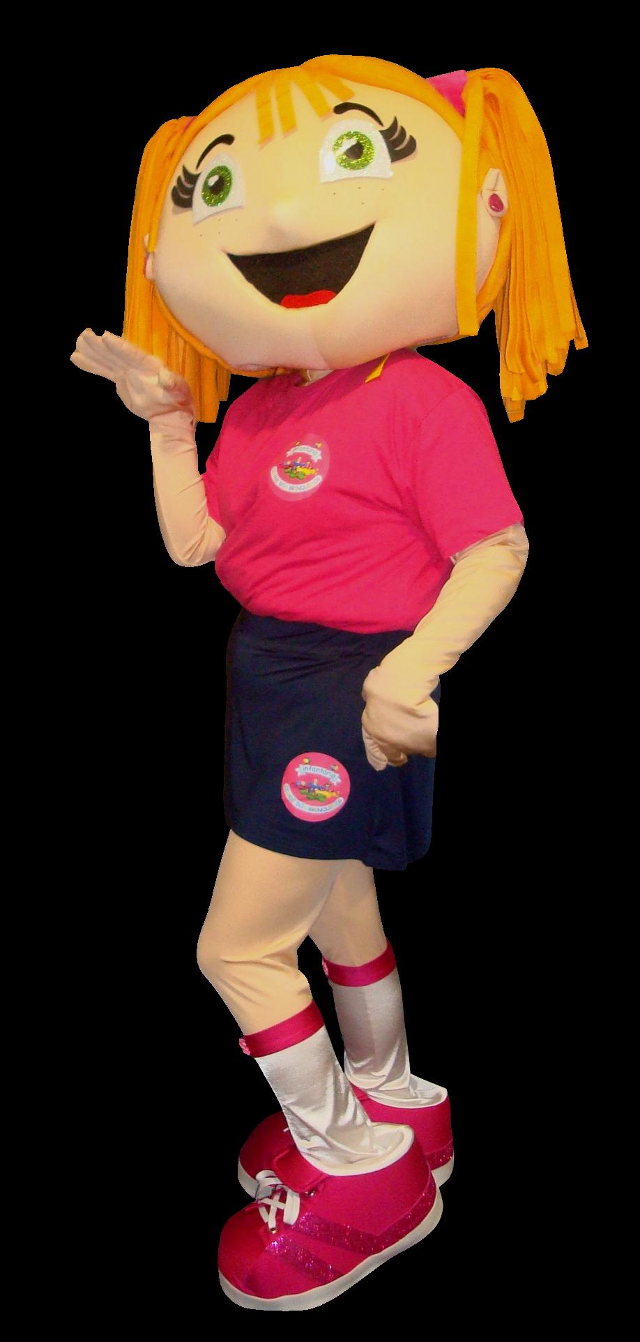 Mascote Partyval Menina Brinquedos