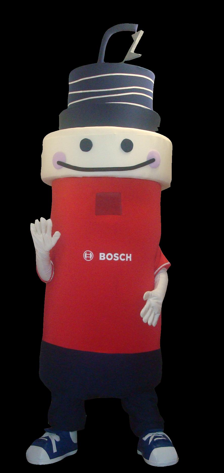 Mascote Partyval Bosch Vela Bateria