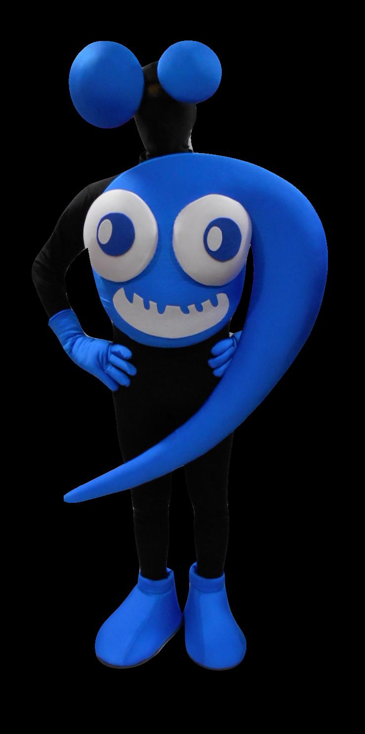 Mascote Partyval Musica azul