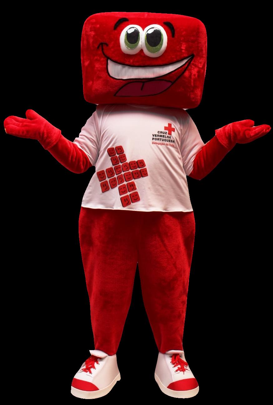 Mascote Partyval Cruz vermelha