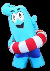 Mascote Partyval Onda Gigante 1