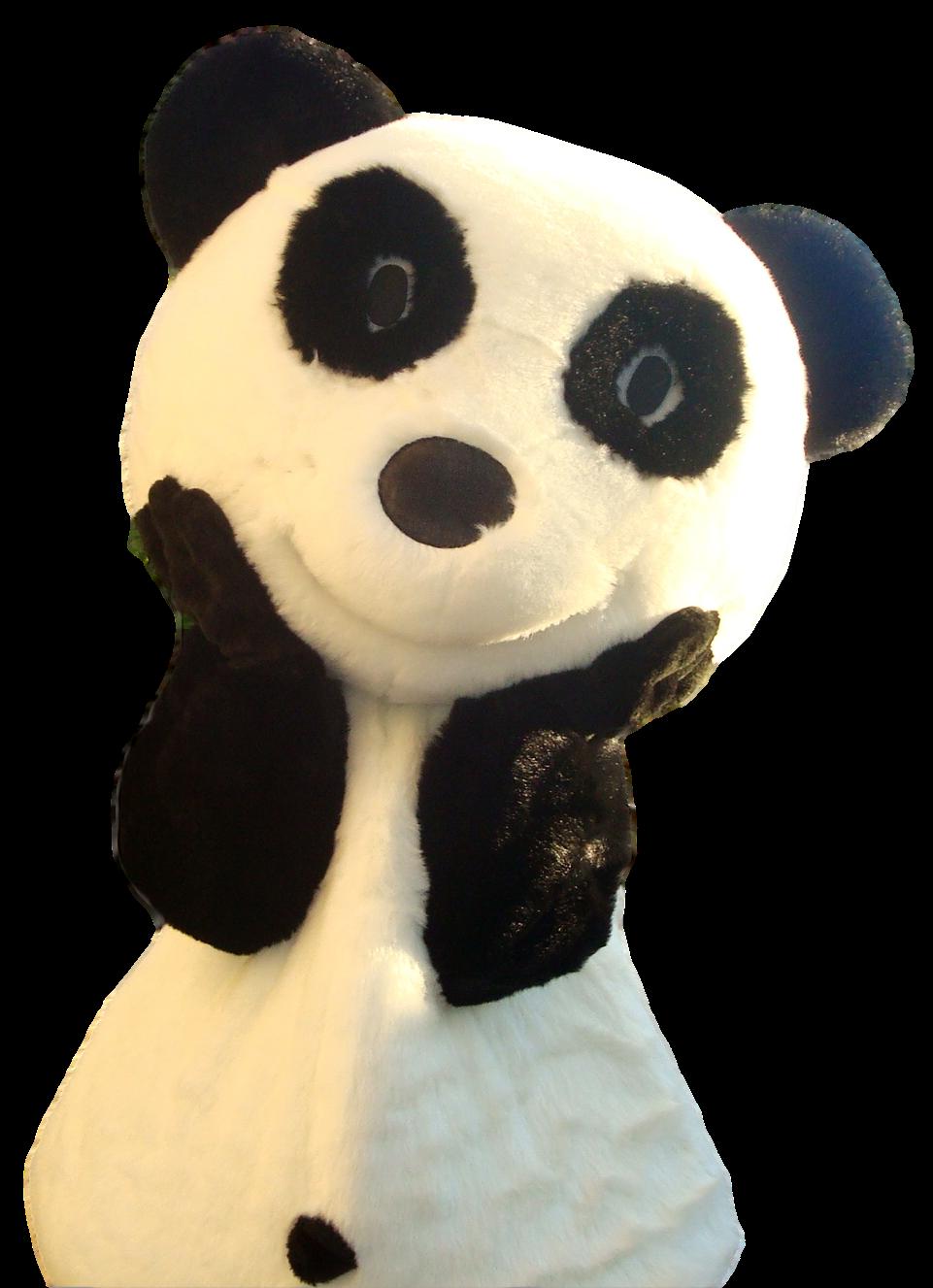 Mascote Partyval panda 3