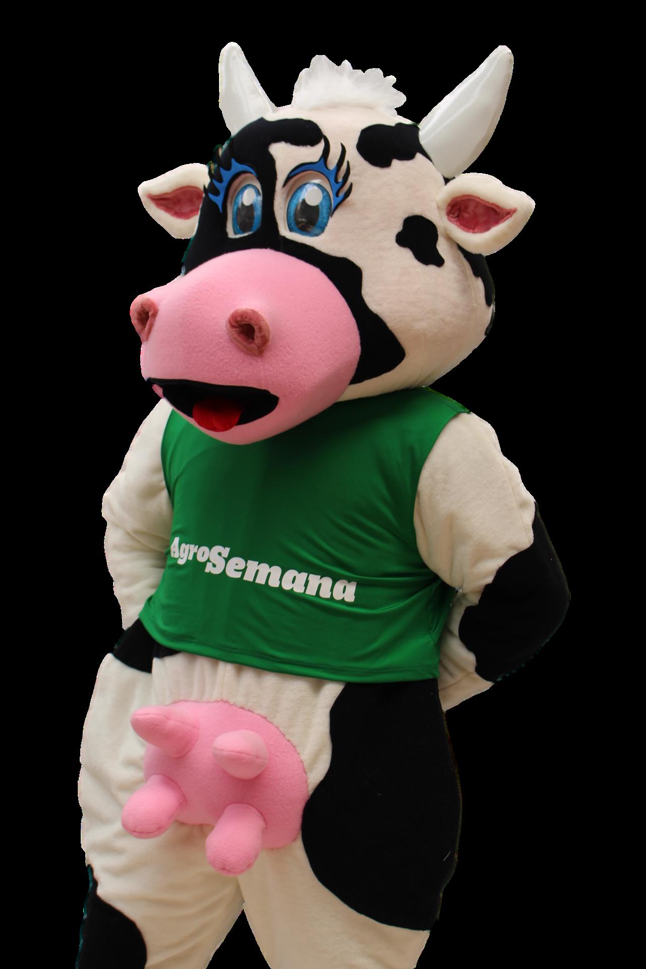 Mascote Partyval Vaca Agros a