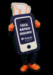 Mascote Partyval Telefone Cartão E-Kwanza 1