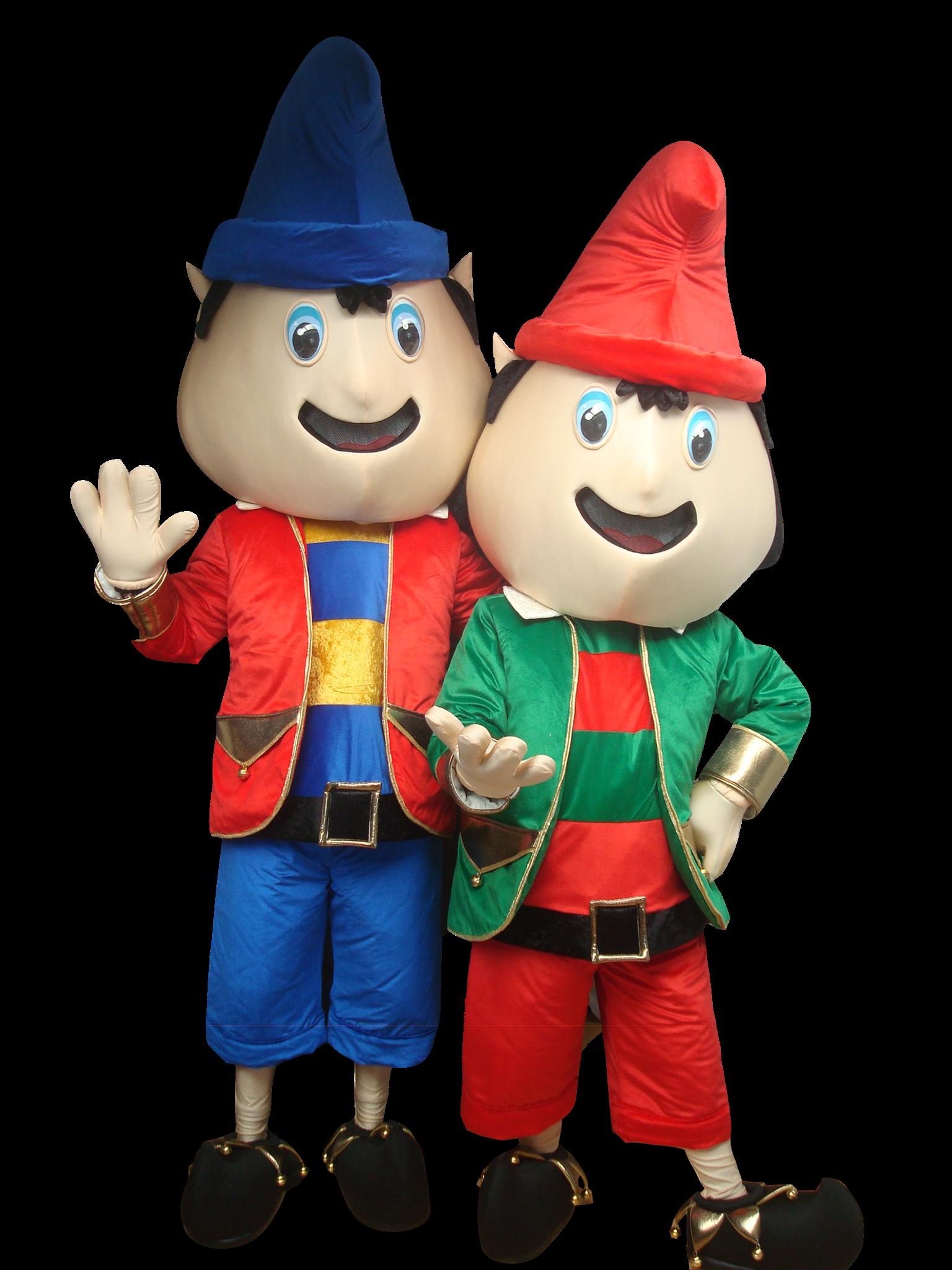 Mascote Partyval Natal Duendes b