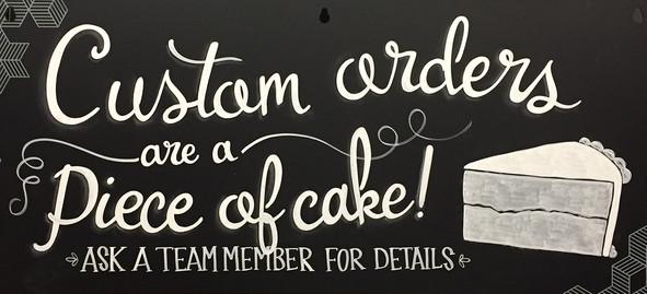 Custom Cake Chalk