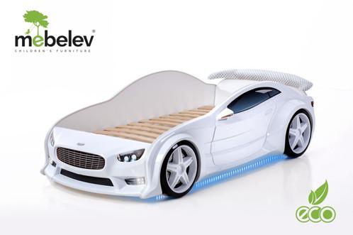 Машина кровать белого цвета