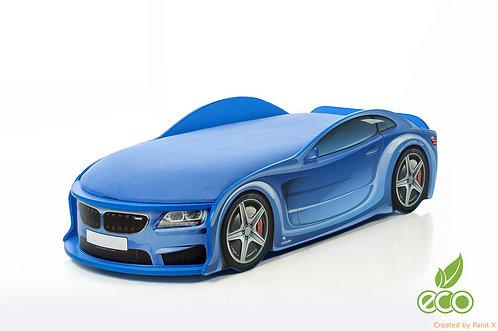 Кровать-машина БМВ серия UNO (цвет синий)