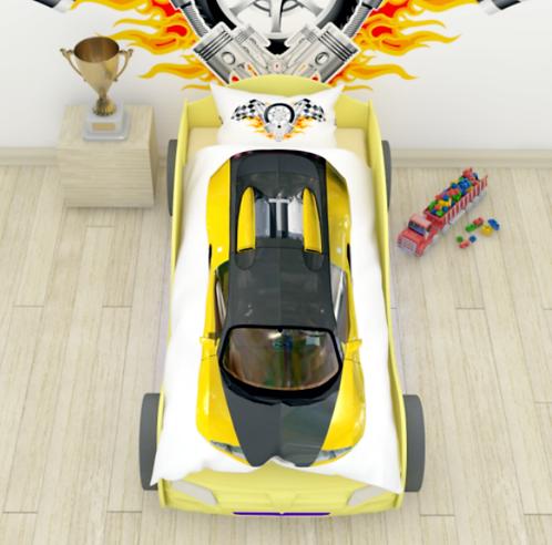 """NEWTONE комплект """"Желтая гоночная машина"""" арт.2355"""