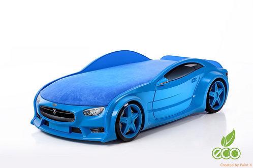 Кровать-машина ТЕСЛА серия NEO (цвет Синий)