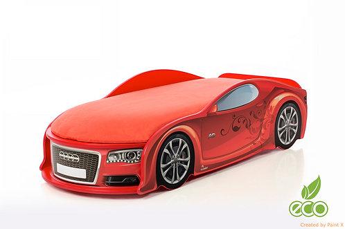 Кровать-машина Ауди-А6 серия UNO (цвет красный)