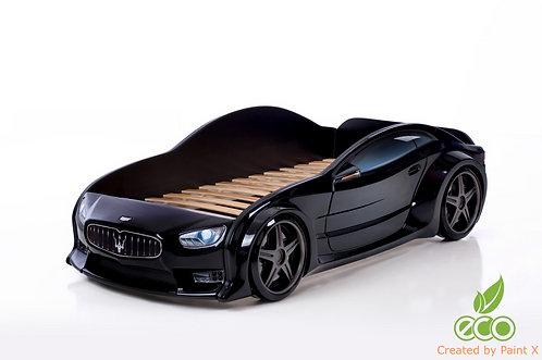 Кровать-машина Мазератти EVO МебеЛев (цвет Черный)
