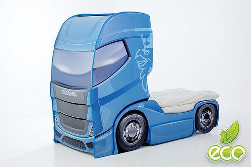 Кровать-машина Грузовик СКАНИЯ +1 DUO МебеЛев (цвет Синий)