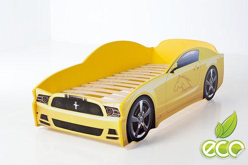 Кровать-машина Мустанг LIGHT МебеЛев (цвет Желтый)