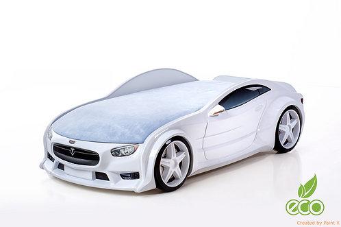 Кровать-машина ТЕСЛА серия NEO (цвет Белый)