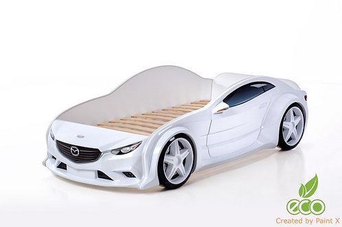 Кровать-машина Мазда EVO МебеЛев (цвет Белый)