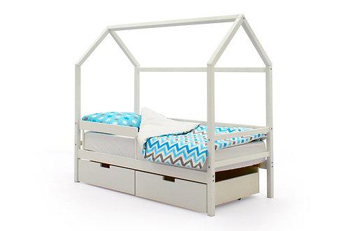 """Детская кровать-домик Бельмарко """"Svogen белый"""" (00680)"""
