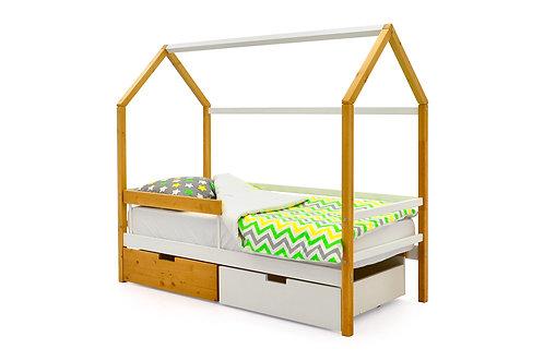 """Детская кровать-домик Бельмарко """"Svogen дерево-белый"""" (00682)"""