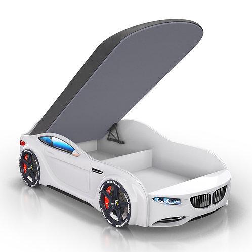 Кровать-машина Romack Junior БМВ (белый)