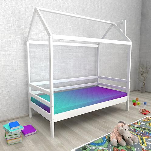 Кровать ДОМИК Авеньён (без бортика) Цвет:БЕЛЫЙ