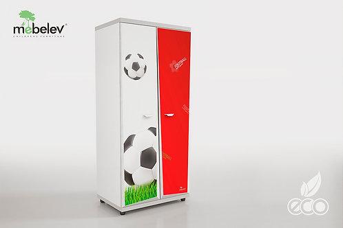 Шкаф Z6 МебеЛев (Декор Футбол)